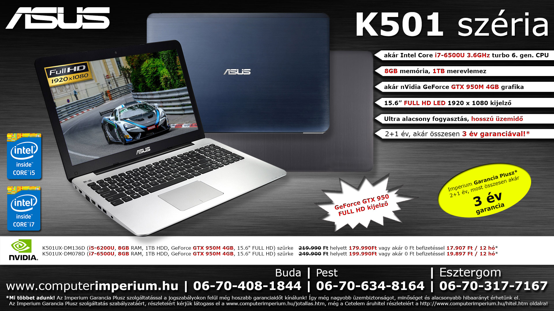 ASUS K501LX-DM046D notebook, laptop (K501LX-DM046D), 8GB RAM-mal!!!