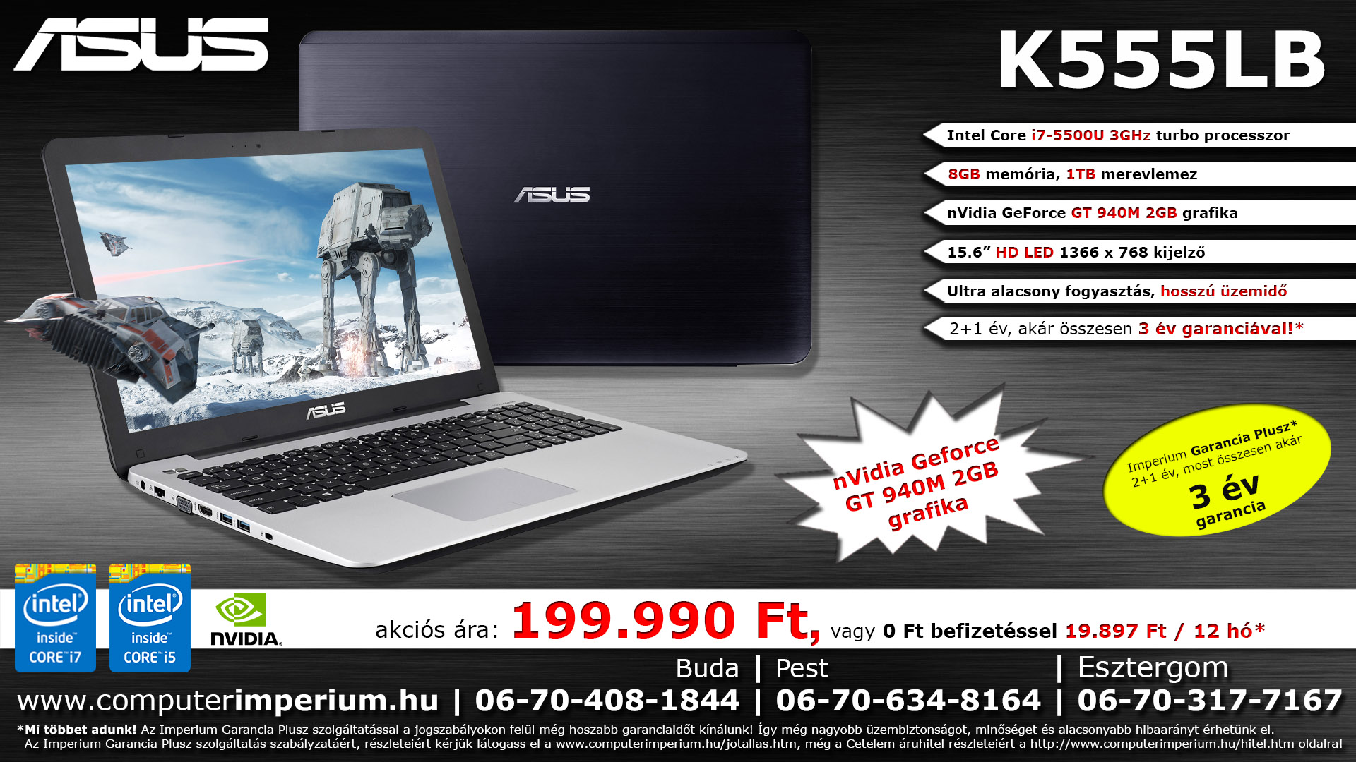 ASUS K555LB-XO112D notebook, laptop (K555LB-XO112D), 8GB RAM-mal!!!