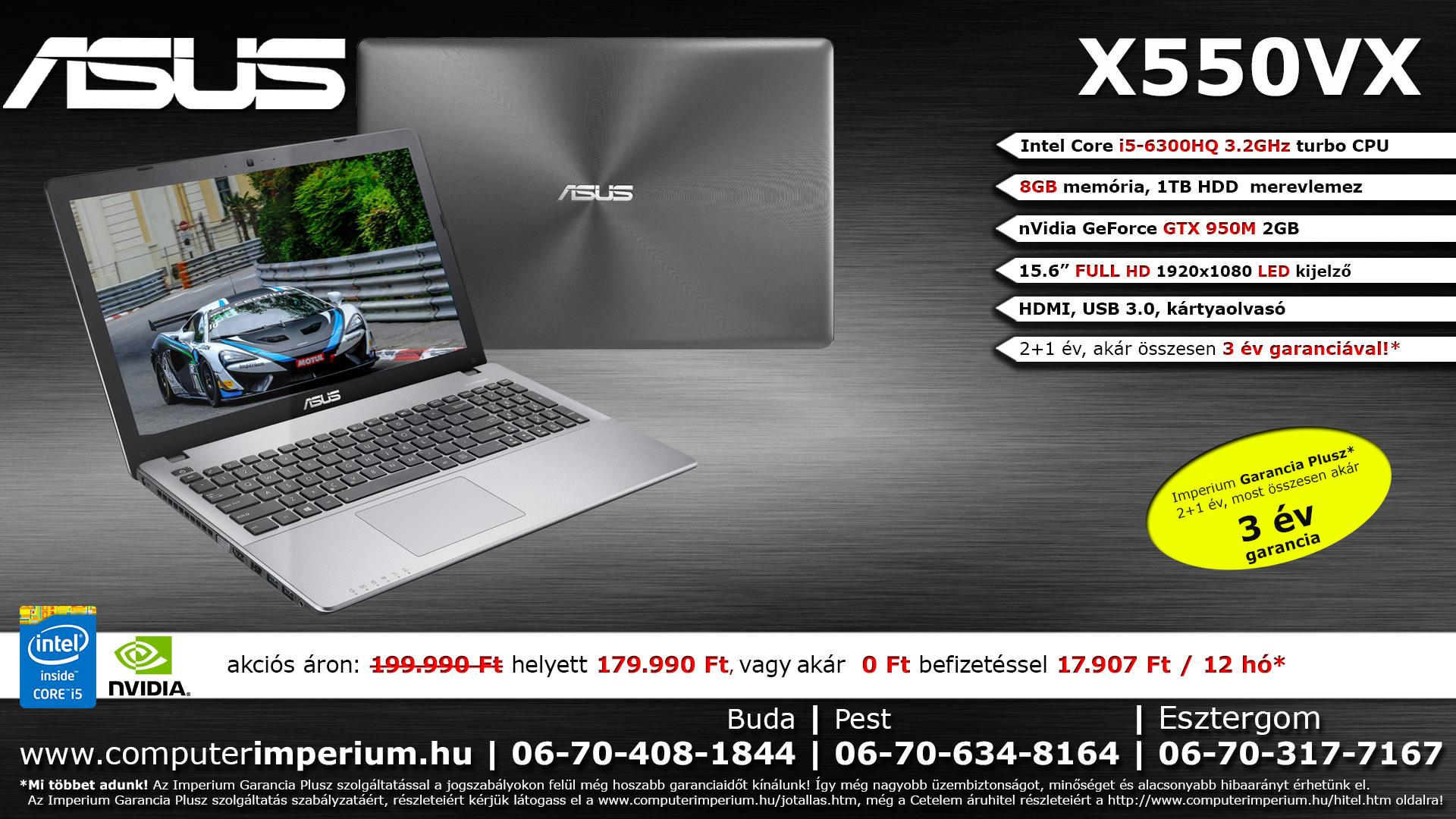 ASUS X550JX-XX016D notebook, laptop (X550JX-XX016D_8GB), 8GB RAM-mal!!!