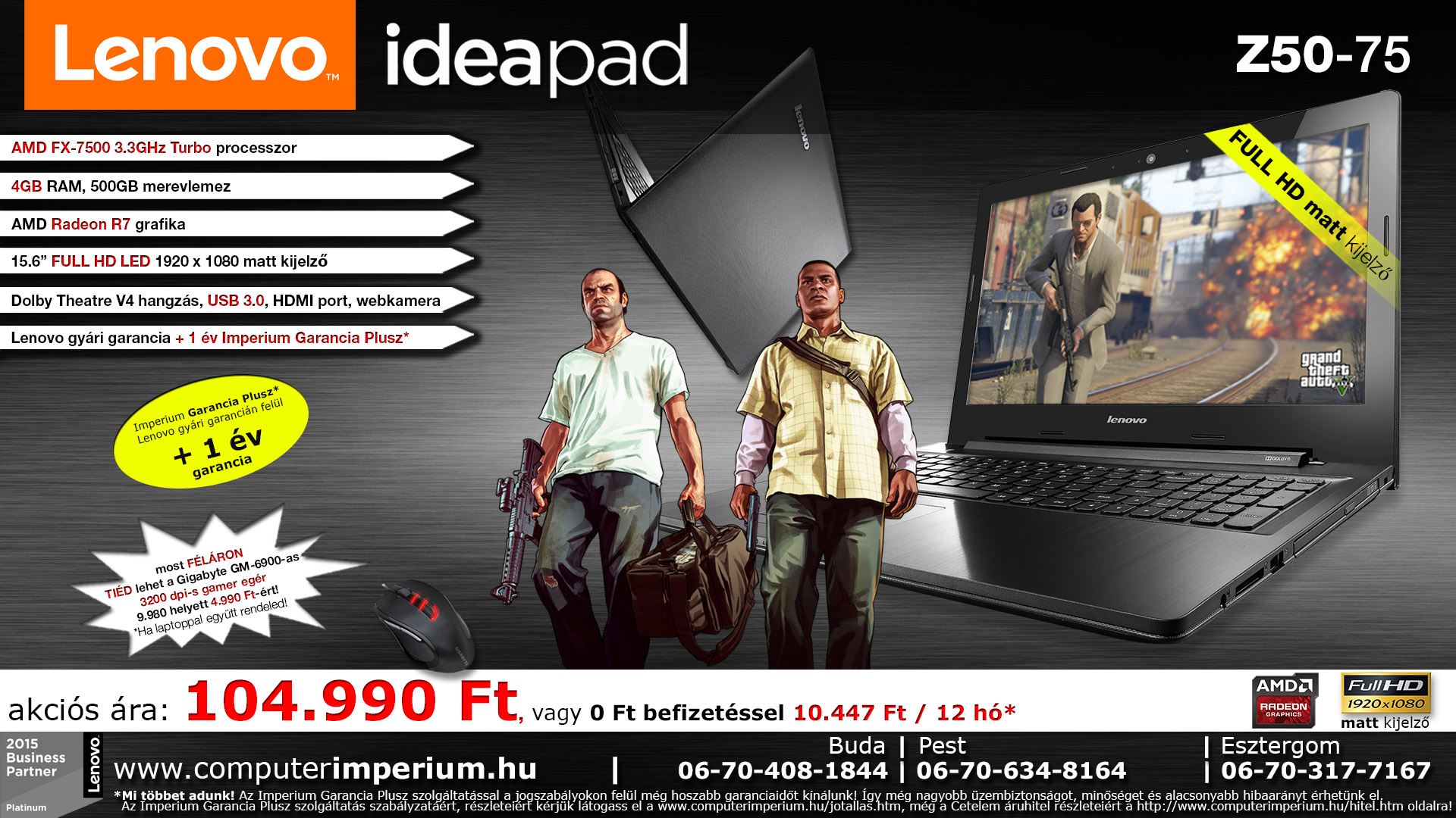 Lenovo IdeaPad Z51-70 notebook, laptop (80K601A7HV), 8GB RAM-mal!!!