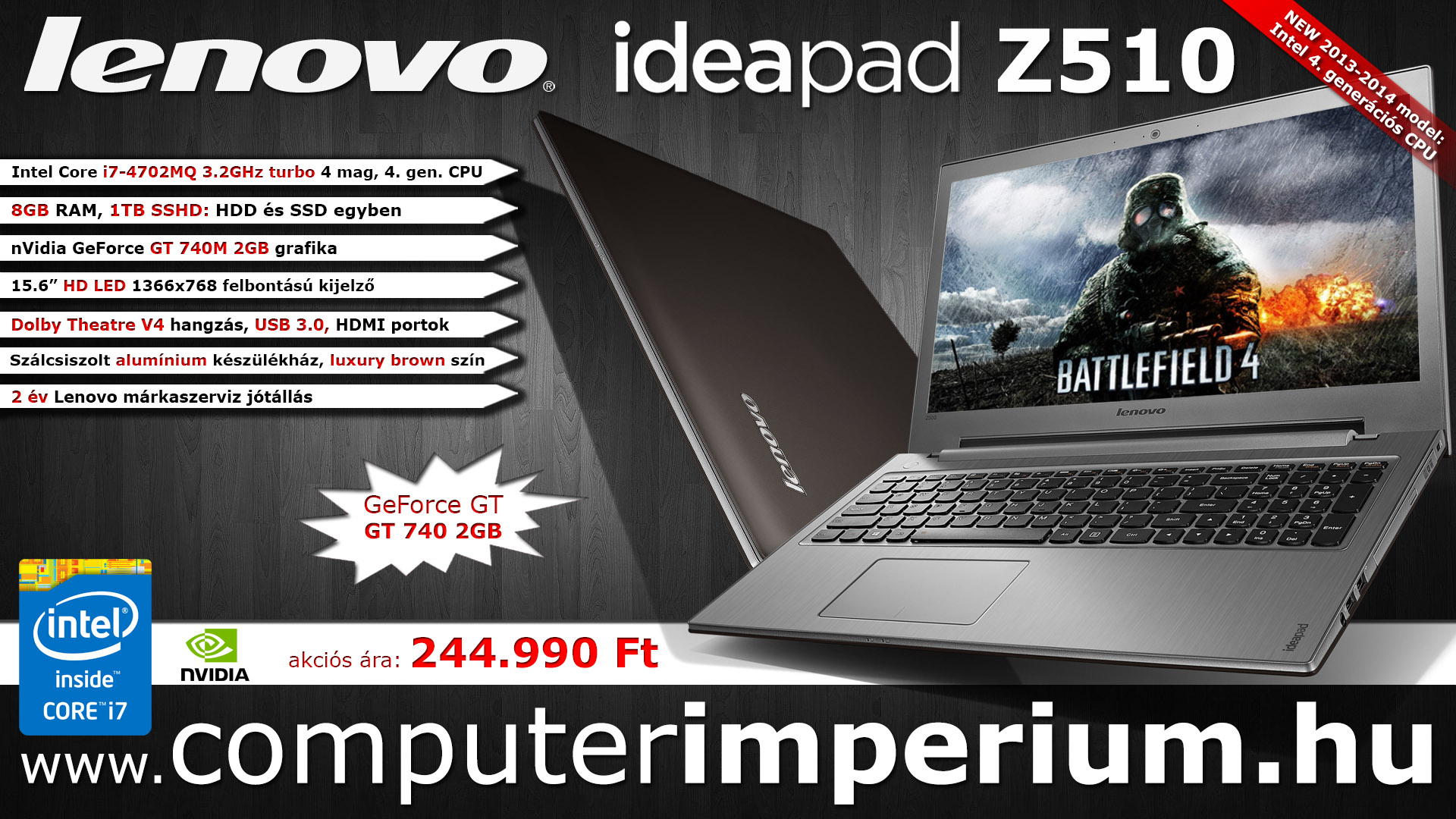 Lenovo IdeaPad Z510 notebook, laptop (59-390308), 8GB RAM-mal!!!